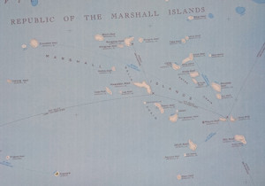 Map Micronesia - detail of the RMI area