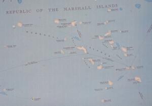Map Micronesia - detail of the RMI area