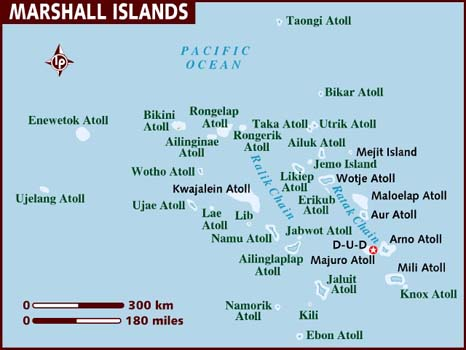 Map of the Marshall Islands - Atolls and Islands